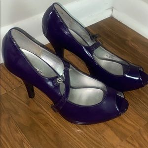 XAppeal purple patent Mary Janes